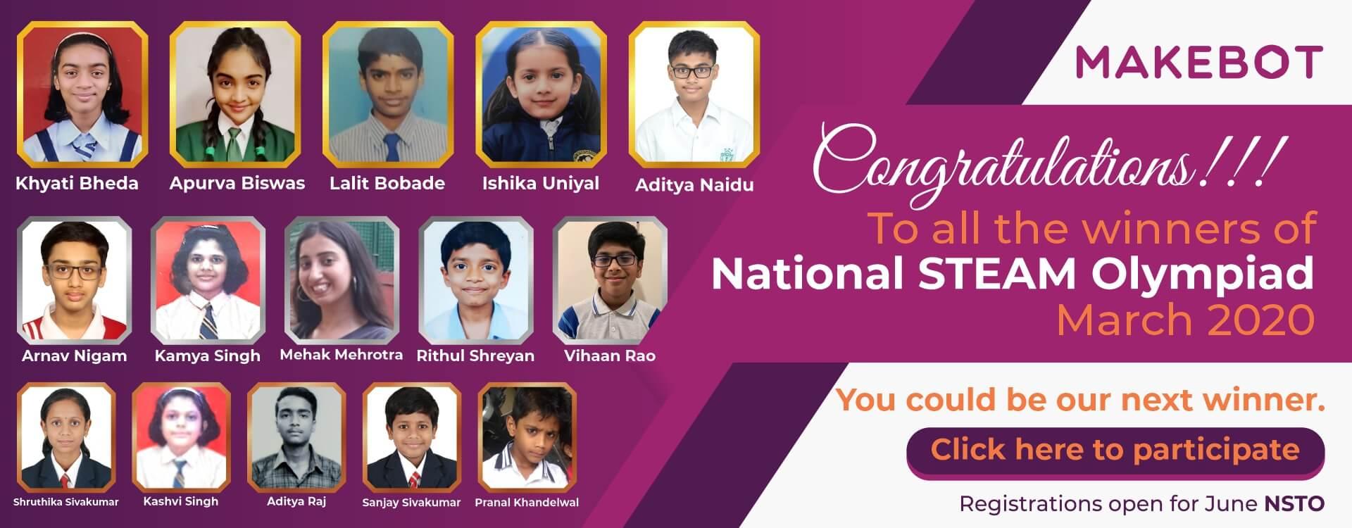 Winners List of NSTO